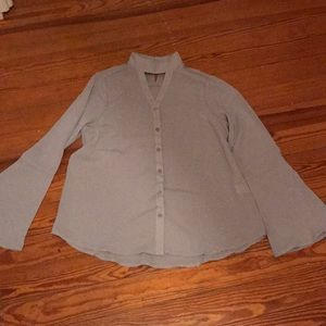 Andrée by Unit grayish blue button down shirt